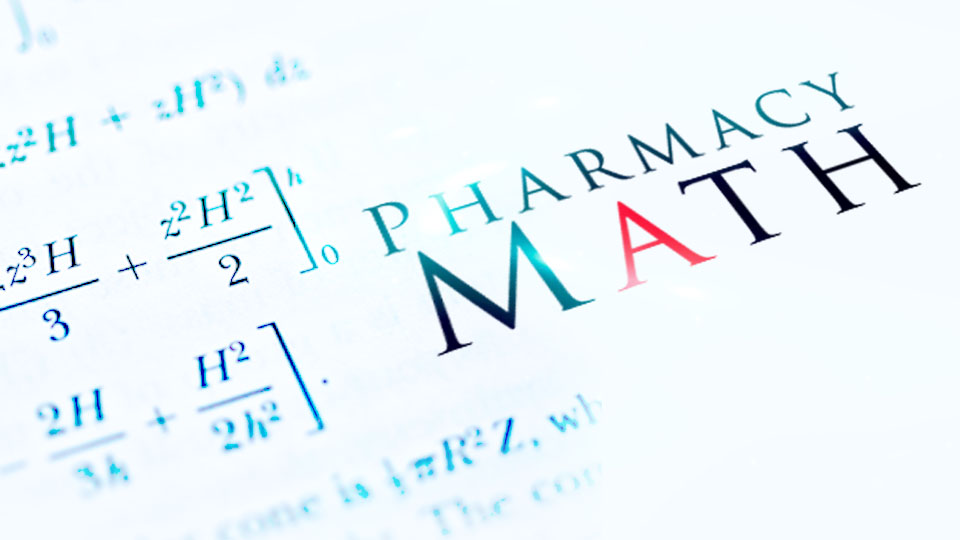 Pharmacy Technician Math